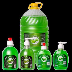 Жидкое мыло «AROMAT» Зеленое яблоко