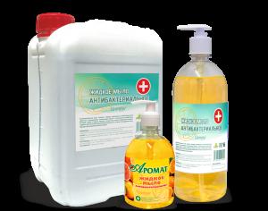 Антибактериальное  жидкое мыло с триклозаном «AROMAT» цитрус