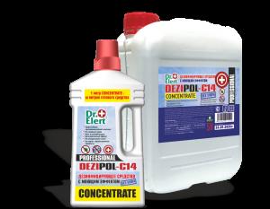 «Dezipol-C14»  ТМ «Dr.Elert» концентрат. Средство дезинфицирующее моющее без содержания хлора