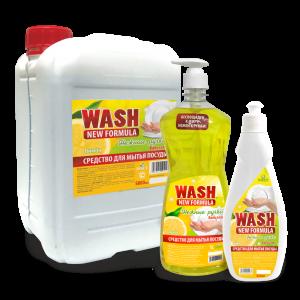 Бальзам для мытья посуды «WASH» нежные ручки — Лимон