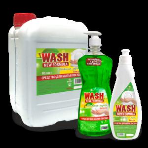 Бальзам для мытья посуды «WASH» нежные ручки — Яблоко