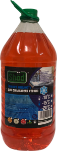 Зимняя жидкость для омывателя стекла TM «Shod» 4л. -10/-15/-20C апельсин / яблоко / грейпфрут